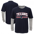"Houston Texans Youth NFL ""Bleachers"" L/S Faux Layer Thermal Shirt"
