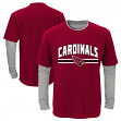 "Arizona Cardinals Youth NFL ""Bleachers"" L/S Faux Layer Thermal Shirt"