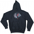 "Chicago Blackhawks Majestic NHL ""Reflective Logo"" Hooded Sweatshirt - Black"