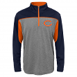 "Chicago Bears Youth NFL ""Defense"" Lightweight 1/4 Zip Synthetic Wind Shirt"