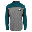 "Philadelphia Eagles Youth NFL ""Defense"" Lightweight 1/4 Zip Synthetic Wind Shirt"