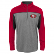 "San Francisco 49ers Youth NFL ""Defense"" Lightweight 1/4 Zip Synthetic Wind Shirt"