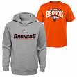 "Denver Broncos Youth NFL ""Layered"" T-Shirt & Hooded Sweatshirt Combo Set"