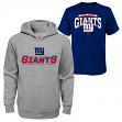 "New York Giants Youth NFL ""Layered"" T-Shirt & Hooded Sweatshirt Combo Set"