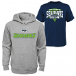 "Seattle Seahawks Youth NFL ""Layered"" T-Shirt & Hooded Sweatshirt Combo Set"