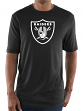 "Oakland Raiders Majestic NFL ""Logo Tech"" Men's S/S Performance Shirt"