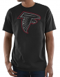 "Atlanta Falcons Majestic NFL ""Primetime"" Men's Short Sleeve Black T-Shirt"