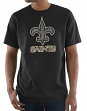 "New Orleans Saints Majestic NFL ""Primetime"" Men's Short Sleeve Black T-Shirt"