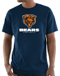 "Chicago Bears Majestic NFL ""Critical Victory 3"" Men's S/S T-Shirt - Navy"