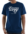"Los Angeles Rams Majestic NFL ""Critical Victory 3"" Men's S/S T-Shirt - Navy"