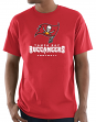 "Tampa Bay Buccaneers Majestic NFL ""Critical Victory 3"" Men's S/S T-Shirt - Red"