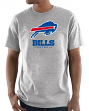 "Buffalo Bills Majestic NFL ""Critical Victory 3"" Men's S/S T-Shirt - Gray"