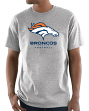 "Denver Broncos Majestic NFL ""Critical Victory 3"" Men's S/S T-Shirt - Gray"