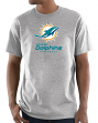 "Miami Dolphins Majestic NFL ""Critical Victory 3"" Men's S/S T-Shirt - Gray"