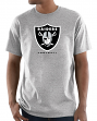 "Oakland Raiders Majestic NFL ""Critical Victory 3"" Men's S/S T-Shirt - Gray"