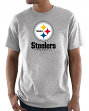 """Pittsburgh Steelers Majestic NFL """"Critical Victory 3"""" Men's S/S T-Shirt - Gray"""