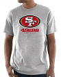 "San Francisco 49ers Majestic NFL ""Critical Victory 3"" Men's S/S T-Shirt - Gray"