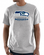 "Seattle Seahawks Majestic NFL ""Critical Victory 3"" Men's S/S T-Shirt - Gray"