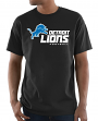 "Detroit Lions Majestic NFL ""Critical Victory 3"" Men's S/S T-Shirt - Black"