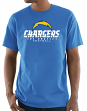 "Los Angeles Chargers Majestic NFL ""Critical Victory 3"" Men's Light Blue T-Shirt"