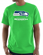 "Seattle Seahawks Majestic NFL ""Critical Victory 3"" Men's S/S T-Shirt - Lime"