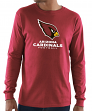 "Arizona Cardinals Majestic NFL ""Critical Victory 3"" Men's L/S T-Shirt - Red"