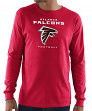"Atlanta Falcons Majestic NFL ""Critical Victory 3"" Men's L/S T-Shirt - Red"