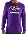 "Baltimore Ravens Majestic NFL ""Critical Victory 3"" Men's L/S T-Shirt - Purple"
