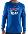 "Buffalo Bills Majestic NFL ""Critical Victory 3"" Men's L/S T-Shirt - Blue"