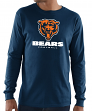 "Chicago Bears Majestic NFL ""Critical Victory 3"" Men's L/S T-Shirt - Navy"