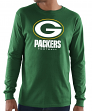 """Green Bay Packers Majestic NFL """"Critical Victory 3"""" Men's L/S T-Shirt - Green"""