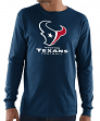 "Houston Texans Majestic NFL ""Critical Victory 3"" Men's L/S T-Shirt - Navy"