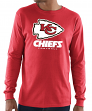 "Kansas City Chiefs Majestic NFL ""Critical Victory 3"" Men's L/S T-Shirt - Red"