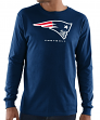 "New England Patriots Majestic NFL ""Critical Victory 3"" Men's L/S T-Shirt - Navy"