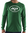 "New York Jets Majestic NFL ""Critical Victory 3"" Men's L/S T-Shirt - Green"