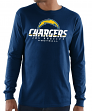 "Los Angeles Chargers Majestic NFL ""Critical Victory 3"" Men's L/S T-Shirt - Navy"
