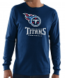 """Tennessee Titans Majestic NFL """"Critical Victory 3"""" Men's L/S T-Shirt - Navy"""
