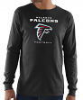 "Atlanta Falcons Majestic NFL ""Critical Victory 3"" Men's L/S T-Shirt - Black"