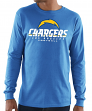 "Los Angeles Chargers Majestic ""Critical Victory 3"" Men's Light Blue L/S T-Shirt"