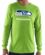 "Seattle Seahawks Majestic NFL ""Critical Victory 3"" Men's L/S T-Shirt - Green"