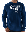 "Los Angeles Rams Majestic NFL ""Critical Victory 3"" Men's Crew Sweatshirt"