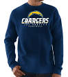 "Los Angeles Chargers Majestic NFL ""Critical Victory 3"" Men's Crew Sweatshirt"