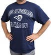 Los Angeles Rams Majestic NFL Heart & Soul III Men's Navy Short Sleeve T-Shirt
