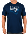 "Los Angeles Rams Majestic NFL ""Pick Six"" Men's Short Sleeve T-Shirt - Navy"