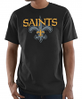 "New Orleans Saints Majestic NFL ""Pick Six"" Men's Short Sleeve T-Shirt - Black"