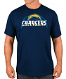 "Los Angeles Chargers Majestic NFL ""Pick Six"" Men's Short Sleeve T-Shirt - Navy"