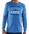 Detroit Lions Majestic NFL Primary Receiver 3 Men's Long Sleeve T-Shirt