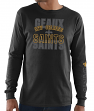 New Orleans Saints Majestic NFL Primary Receiver 3 Men's Long Sleeve T-Shirt