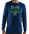 Seattle Seahawks Majestic NFL Primary Receiver 3 Men's Long Sleeve T-Shirt
