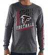 "Atlanta Falcons Majestic NFL ""Dual Threat"" Men's Long Sleeve Charcoal T-Shirt"